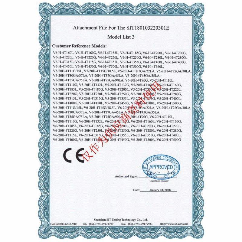 Certificate of Conformity 06