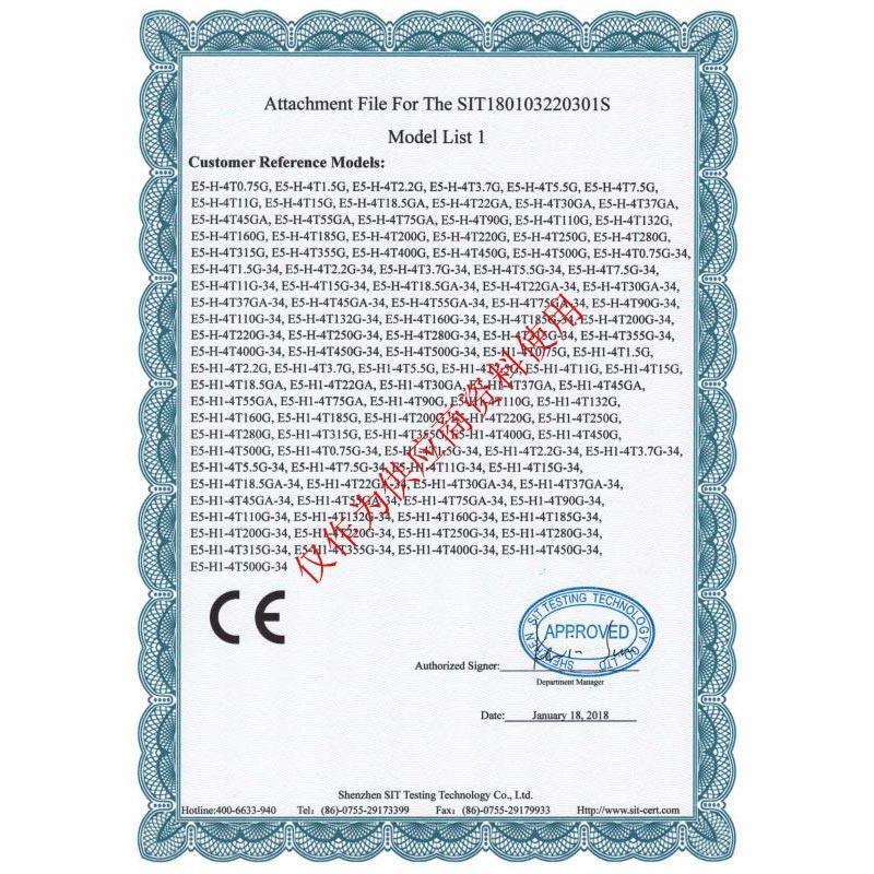 Certificate of Conformity 04