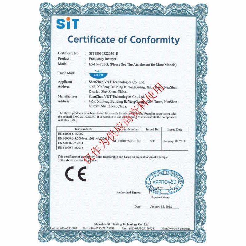 Certificate of Conformity 02