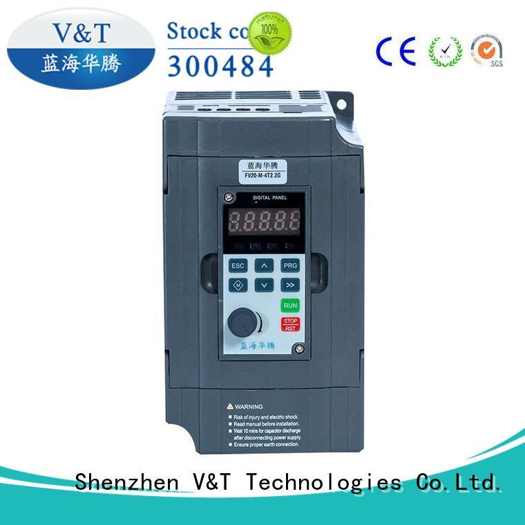100% quality V/F vector control technology solutions for limited mounting space V&T Technologies