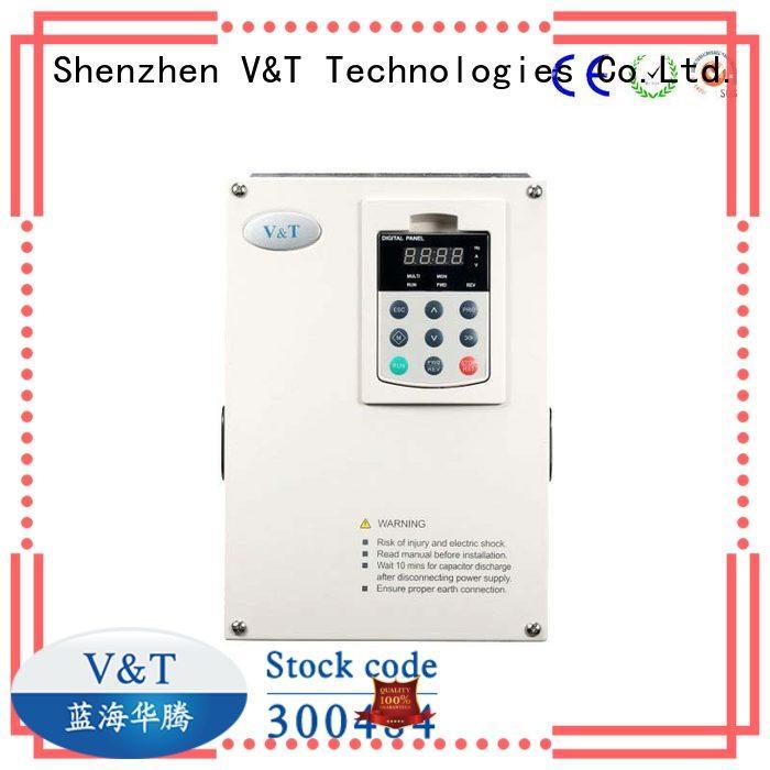V&T Technologies processing vfd motor control for hoist for machines
