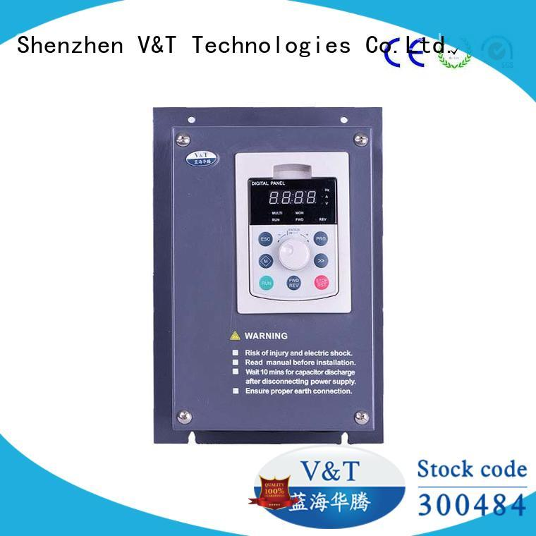 V&T Technologies spinning machine low frequency inverter fast real-time control for special purpose