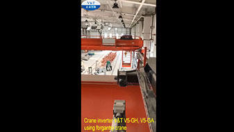 Crane inverter V&T V5-GH, V5-GA using forgantry crane