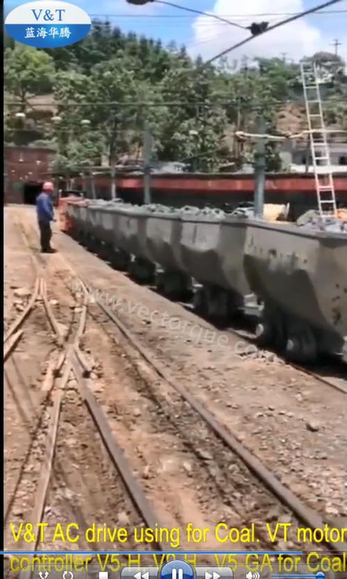 V&T AC drive using for Coal. VT motor controller V5-H, V9-H , V5-GA for Coal Train.